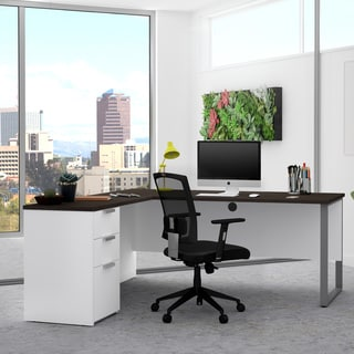 Bestar Pro-Concept Plus L-Desk with Metal Leg