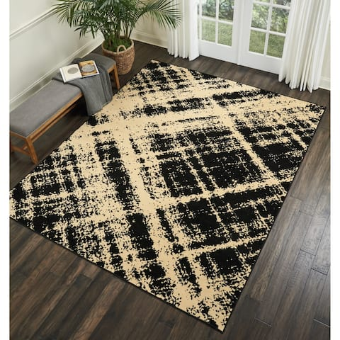 Nourison Grafix Distressed Abstract Area Rug
