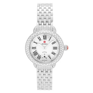 Michele Women's MWW21E000001 'Serein' Stainless Steel 3/8 CT TDW Diamond Mother of Pearl Bracelet Watch