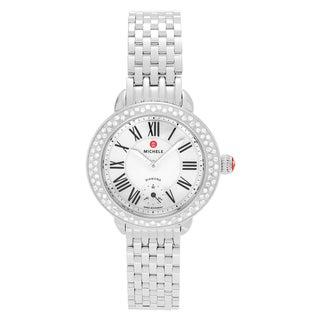 Michele Women's MWW21E000001 'Serein' Stainless Steel 3/8 CT TDW Diamond Mother of Pearl Bracelet Watch