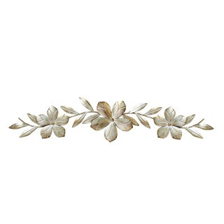 Stratton Home Decor Metal Champagne Flower Over-the-Door Wall Decor