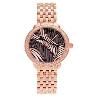 Michele Women's MWW21B000091 'Serein' Rose Goldplated 1/2 CT Diamond Willow Link Bracelet Watch