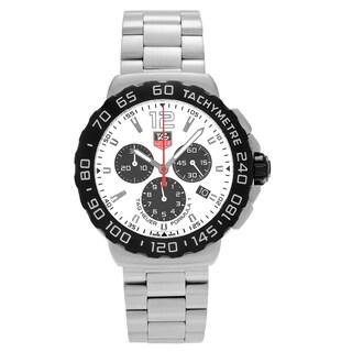 Tag Heuer Men's CAU1111.BA0858 'Formula 1' Stainless Steel Chronograph Dial Link Bracelet Watch