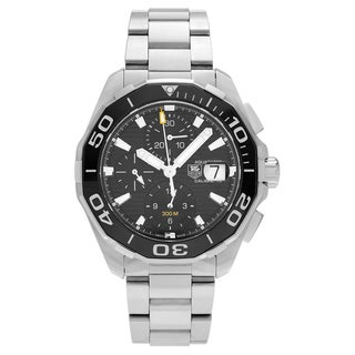 Tag Heuer Men's CAY211A.BA0927 'Aquaracer' Stainless Steel Chronograph Link Bracelet Watch