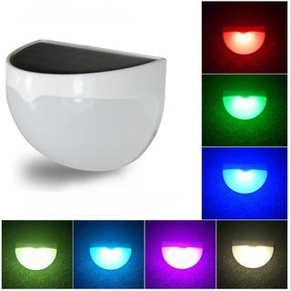 LED Solar Lighting for Outdoor Waterproof Wall Light 7 Changeable Color