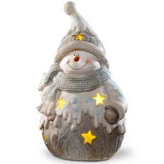 "Link to 17"" Lighted Snowman Piece Similar Items in Christmas Decorations"