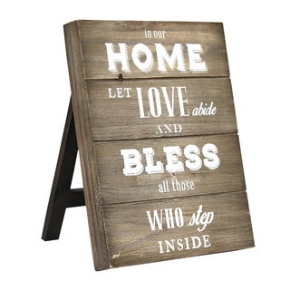 "Stratton Home Decor ""In our home let love abide and bless all those inside"" Table Top"