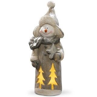 "Link to National Tree Company 18"" Holiday Christmas Lighted Snowman Decor Piece Similar Items in Christmas Decorations"