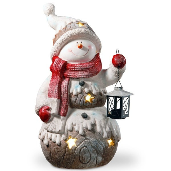 "21"" Lighted Snowman Piece. Opens flyout."