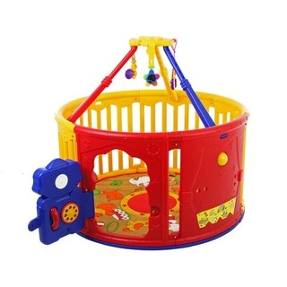 The Dream On Me Deluxe Circuliar Playard with Jungle Gym