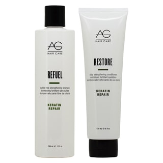 AG Hair Keratin Repair Refuel 10-ounce Shampoo & 6-ounce Restore Conditioner Duo