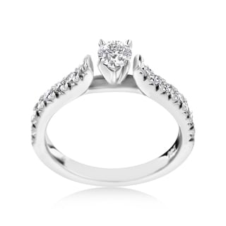 SummerRose 14k  White Gold 3/4ct TDW Diamond Engagment Ring