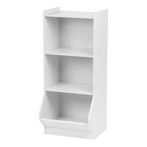 IRIS 3-tier White Storage Organizer Shelf with Footboard