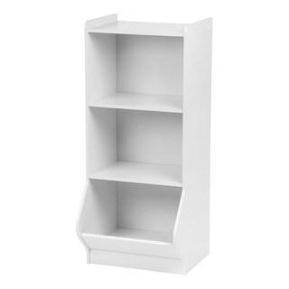 IRIS White Wood 3-tier Storage Shelf