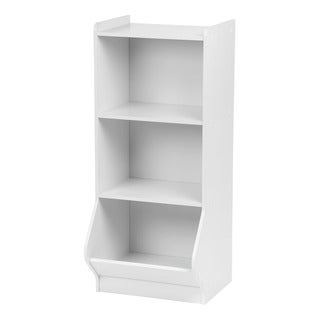 IRIS 3-tier White Storage Organizer Shelf with Footboard