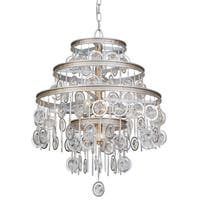 Varaluz Charmed 9-light Silver with Champagne Mist Chandelier
