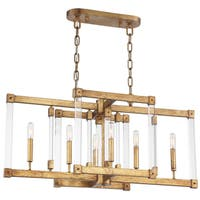 Varaluz Halcyon Steel 6-light Antiqued Gold Leaf Linear Pendant