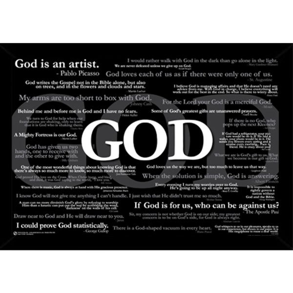 Shop God Quotes Poster With Choice Of Frame 24x36 Ships To