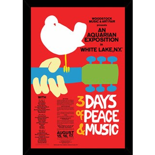 Woodstock Red Poster With Choice of Frame (24x36)