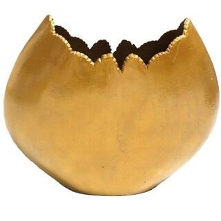 Gold Eagle Uneven Edge Gold Metal Vase