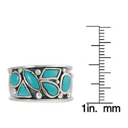 Journee Collection Sterling Silver Turquoise Ring