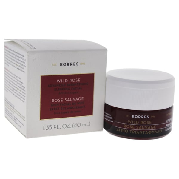 3 Pack - Korres 24-Hour Moisturising and Brightening Cream, Wild Rose 1.35 oz NOW Solutions Cream Cleanser, Green Tea & Pomegranate, 8 Fl Oz