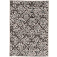 Pwer loomed Vintage Collection Clara Beige and Grey Rug (9' x 12')