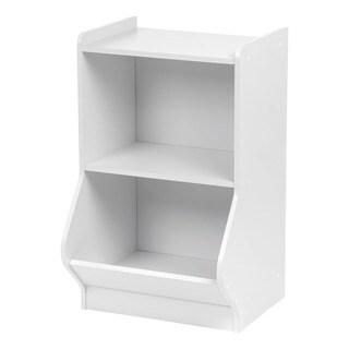 IRIS 2-tier White Storage Organizer Shelf with Footboard