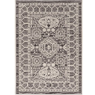 Vintage Collection Hamadan Grey and Cream Rug (2' x 10')