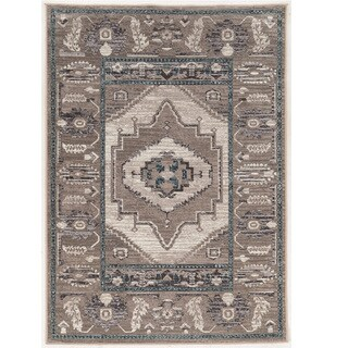 Vintage Collection Serape Beige and Grey Rug (2' x 3')