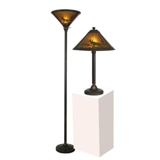 "Springdale 23""H Wilderness Table and Floor Lamp Set"