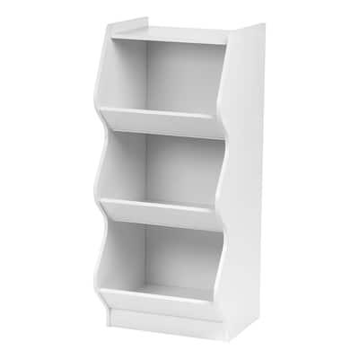 IRIS 3-tier White Curved Edge Storage Shelf
