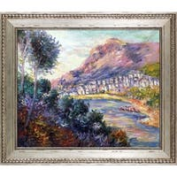 Monet Monte Carlo Seen from Roquebrune Hand Painted Oil Reproduction