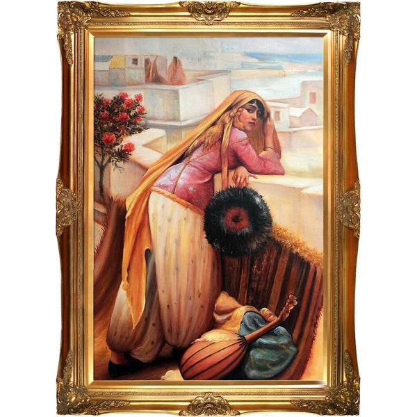 Frederick Arthur Bridgman On the Terrace Hand Painted Oil Reproduction
