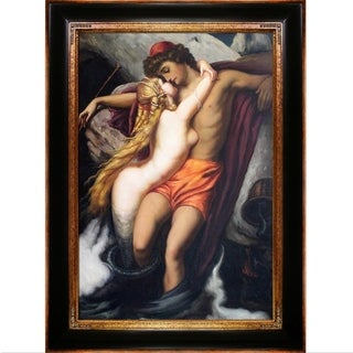 Leighton The Fisherman and the Syren Hand Painted Oil Reproduction