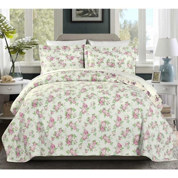 Dakota 100 Cotton Pre-Washed Reversible 3 piece Quilt Set