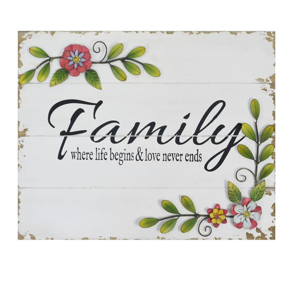 Stratton Home Decor Floral Family Wall Art Overstock 16836304