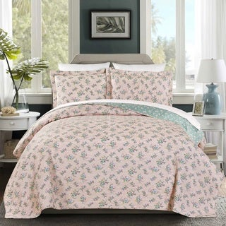 Carolina 100 Cotton Pre-Washed Reversible 3 piece Quilt Set