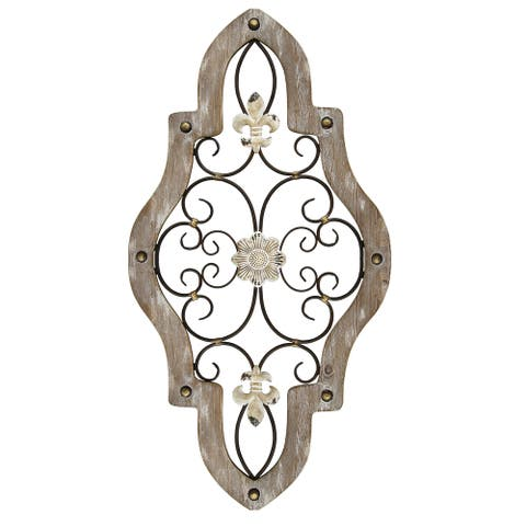 Stratton Home Decor French Country Scroll Wall Decor