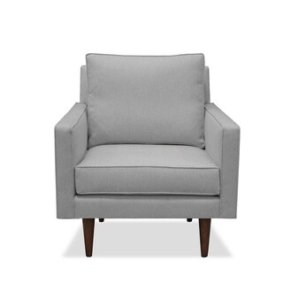 South Cone Home Stan Grey Fabric/Hardwood Lounge Chair