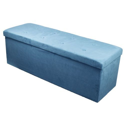 Sorbus Storage Bench Chest – Contemporary Faux Suede (Large, Teal)