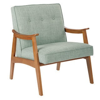 Ave Six Midcentury Charlene Button Back Accent Chair