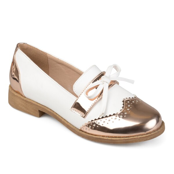 96a599ae60b Shop Journee Collection Women s  Gloria  Wingtip Bow Loafers - Free ...
