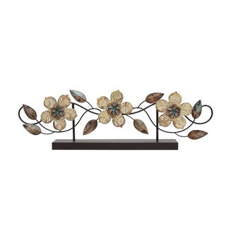 Stratton Home Décor Stamp Wood Flower Table Top