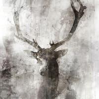Deer canvas art gel brush finish 24X24