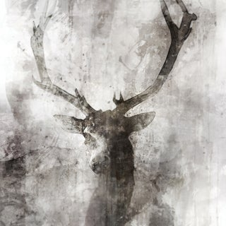 Deer canvas art gel brush finish 24X24