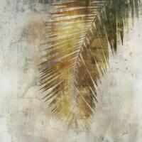 Palm Leaf Yellow canvas art gel brush finish 24X24