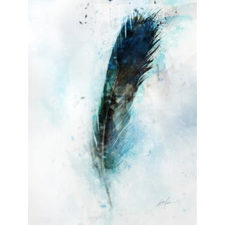 Feather canvas art gel brush finish 30X40