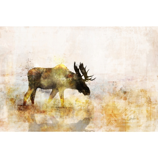Moose canvas art gel brush finish 24X36