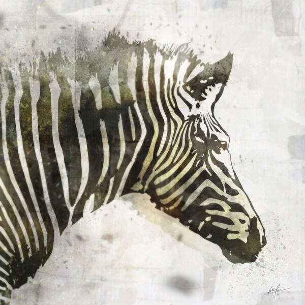 Zebra canvas art gel brush finish 24X24